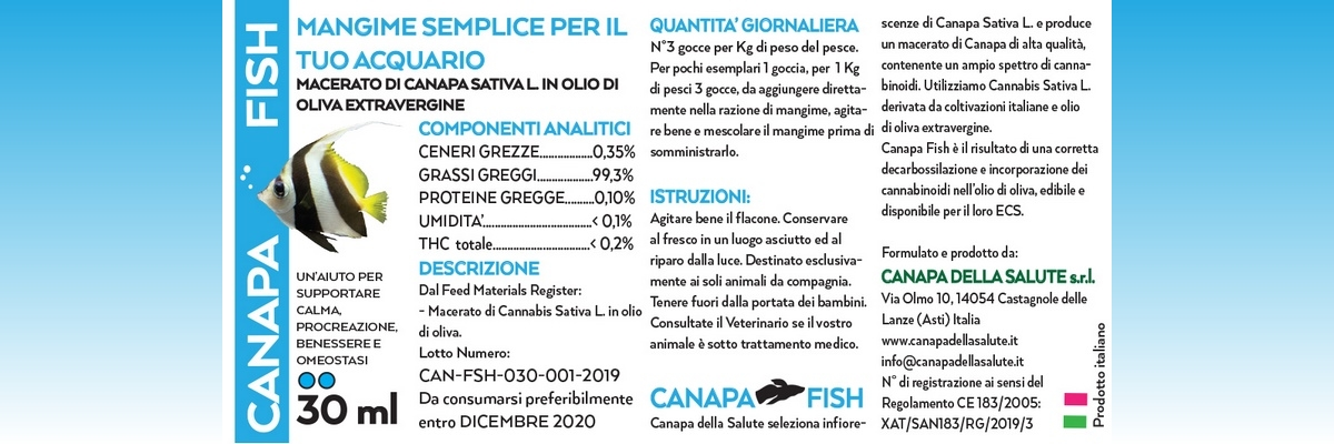 Canapa Fish 30 Ml Etichetta