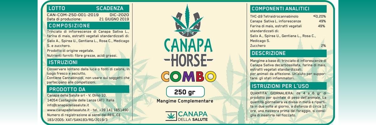 Etichetta CANAPA HORSE COMBO L